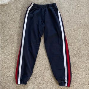 John Galt Navy Blue White and Red Sweatpants